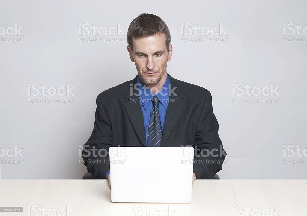 Working on the laptop royalty-free stock photo