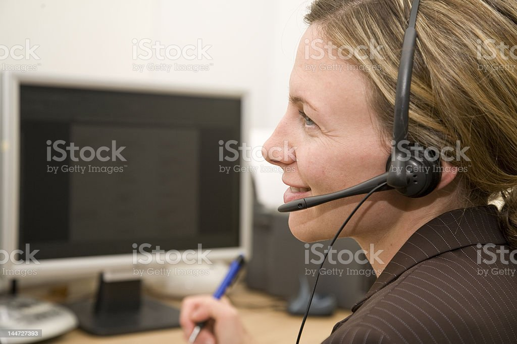 Working on the phone royalty-free stock photo