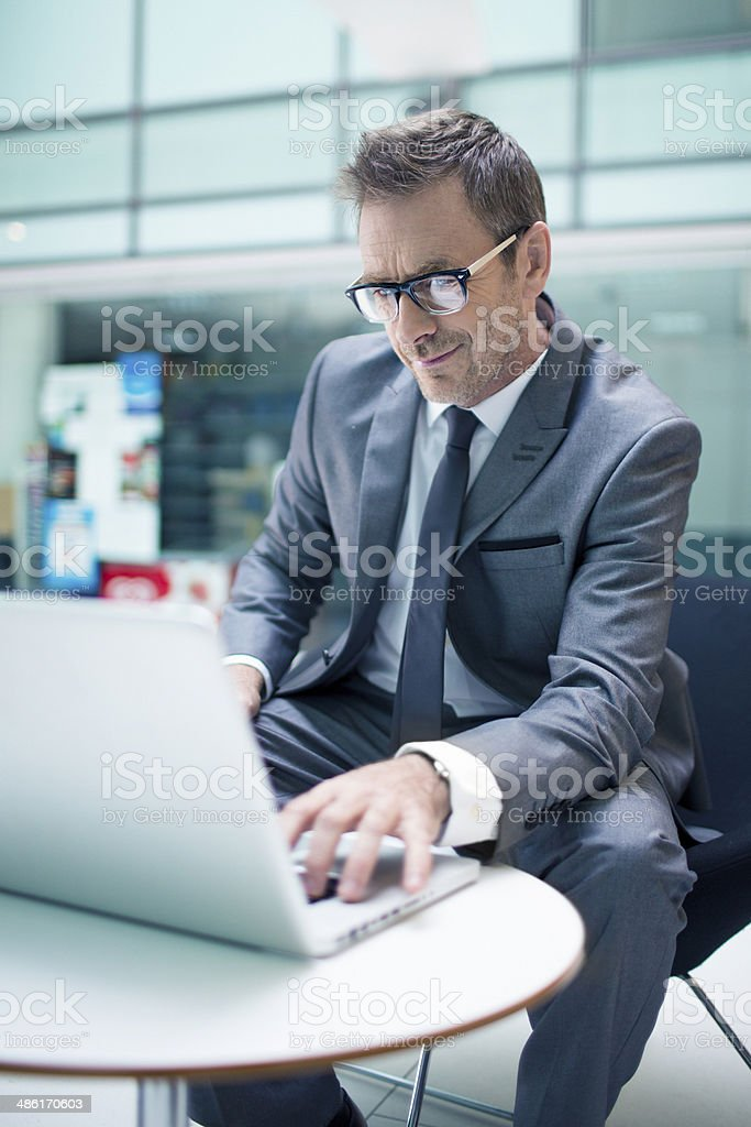 Working on the trip royalty-free stock photo