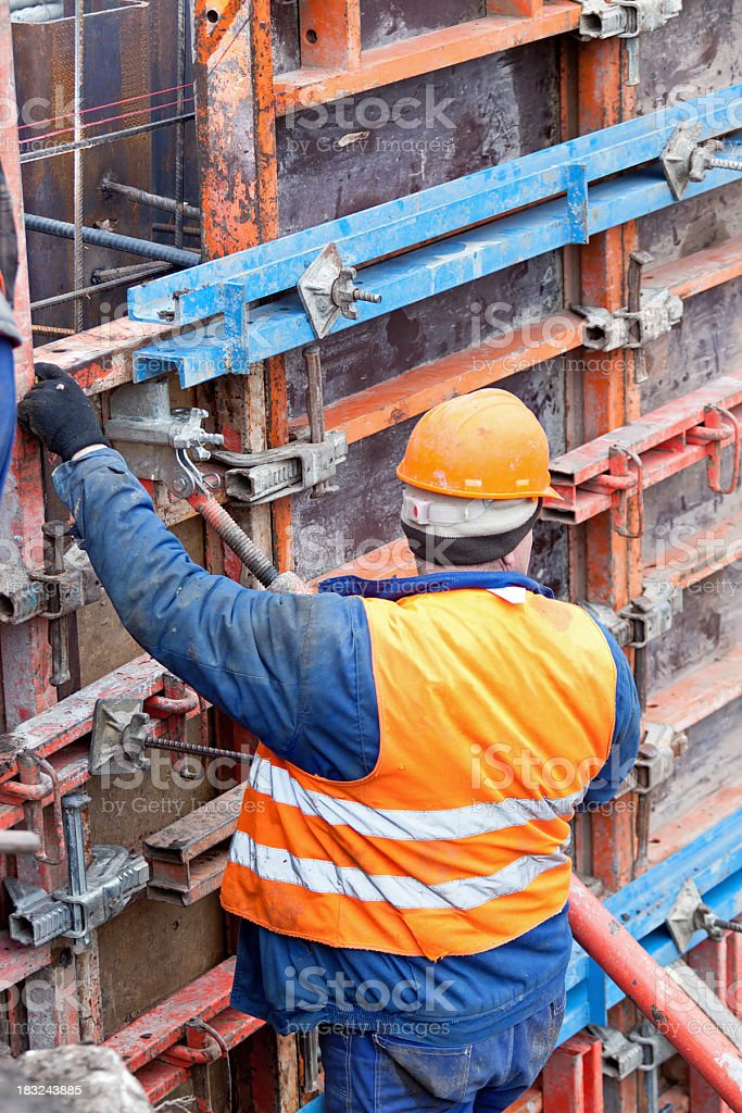 Working on the Wall royalty-free stock photo