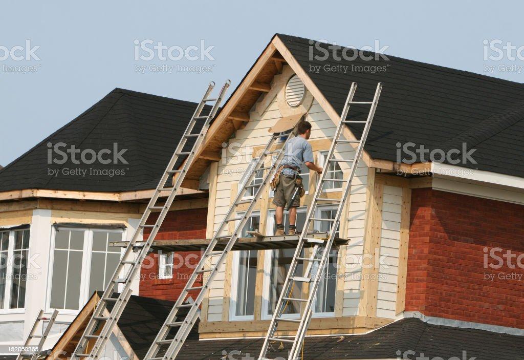 Working on windows stock photo
