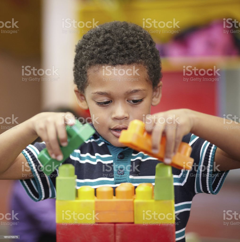 Working out all the details - Childhood development stock photo