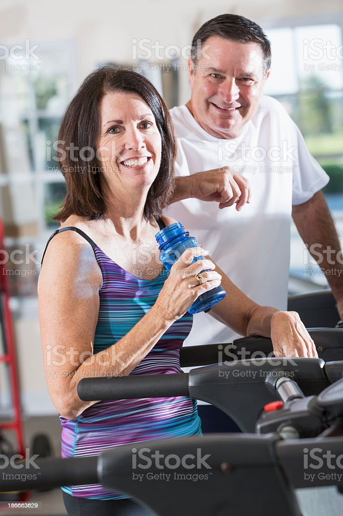 Working out at the gym royalty-free stock photo