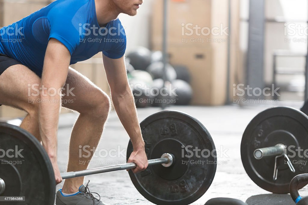 Working out at the Gym stock photo