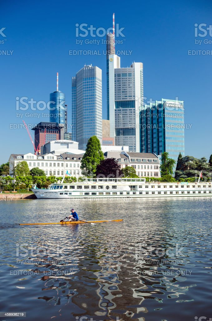 Working out in Frankfurt (Main) stock photo