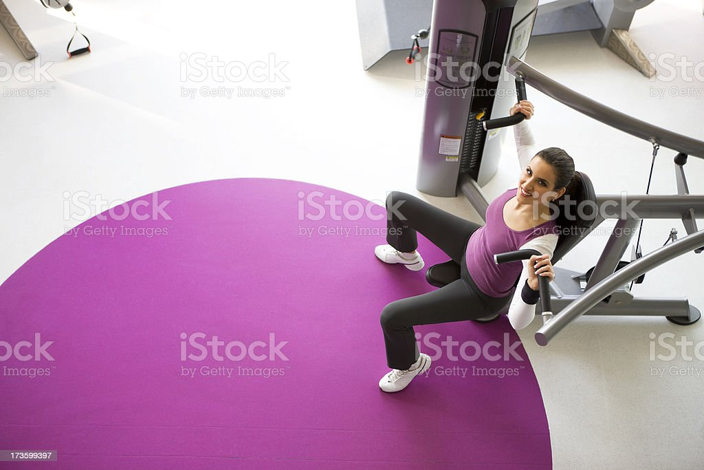 Working out in gym royalty-free stock photo