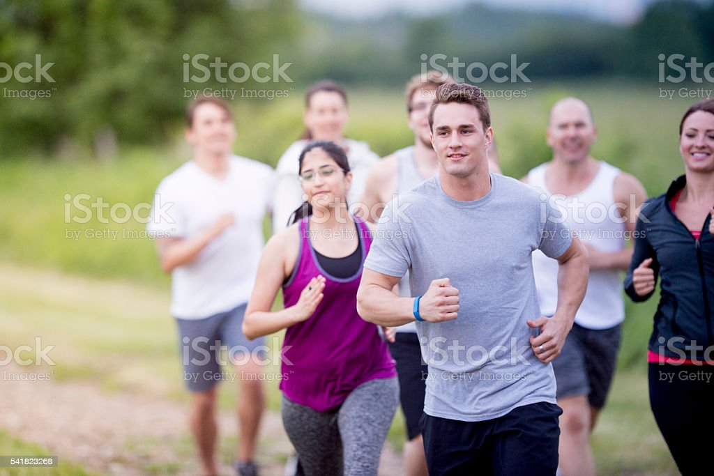Working out on a Spring Day stock photo