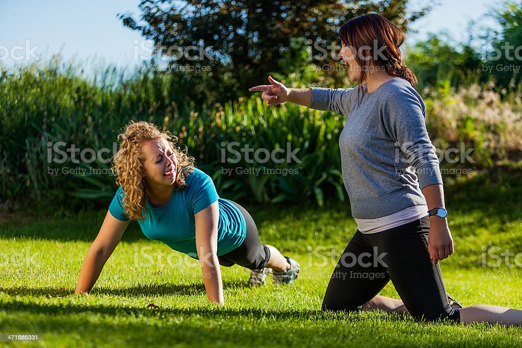 Working Out with Motivating Partner royalty-free stock photo