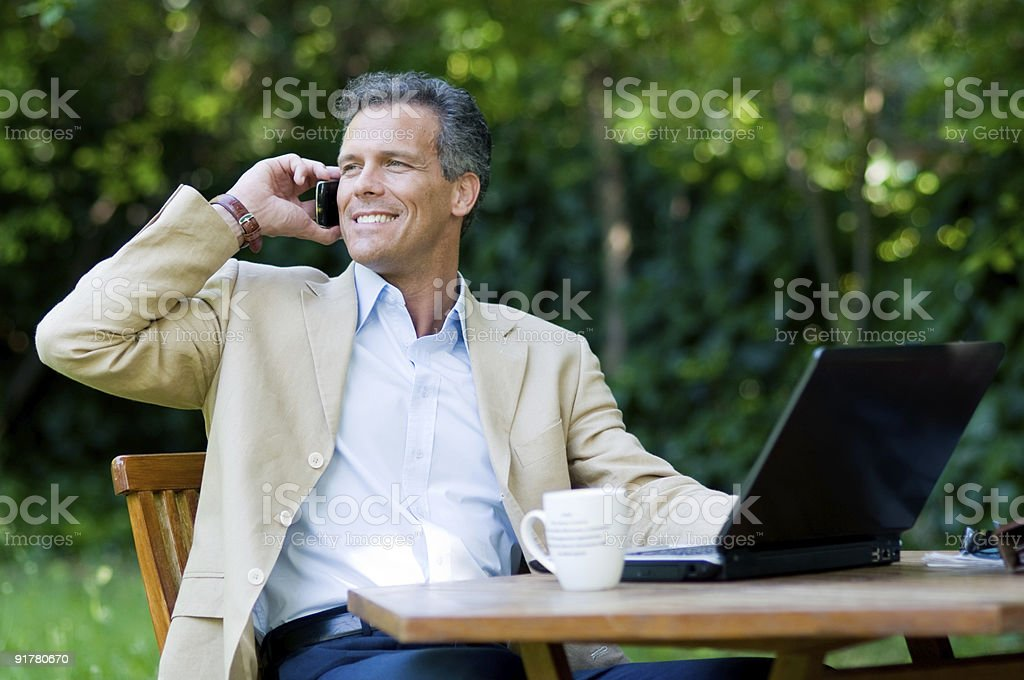 Working outdoor royalty-free stock photo