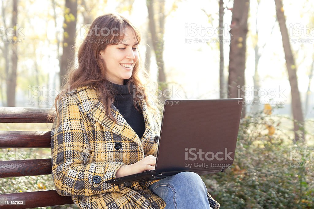 Working outside royalty-free stock photo