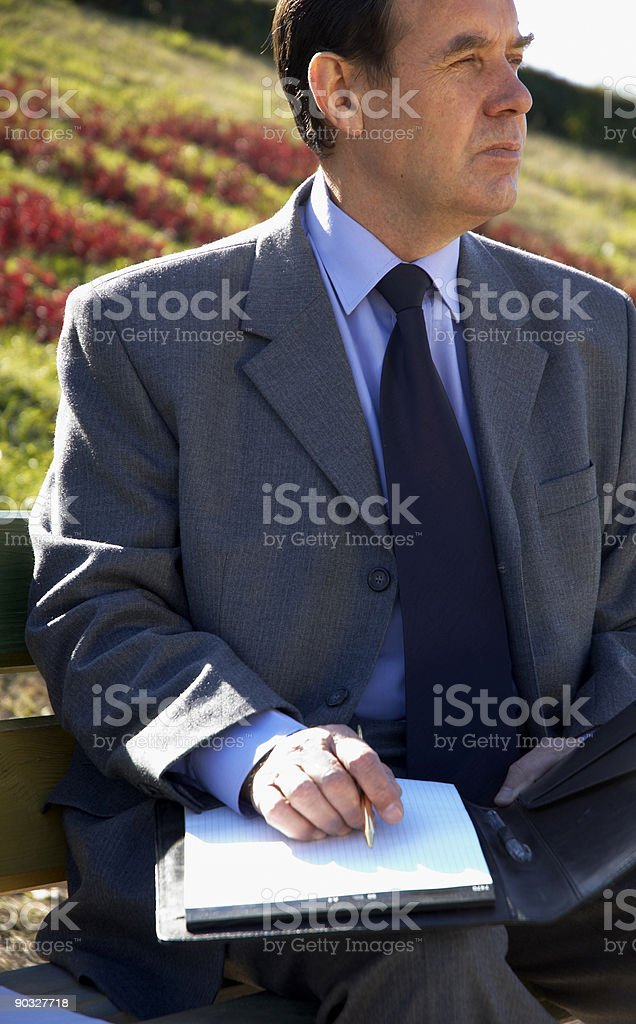 working outside stock photo
