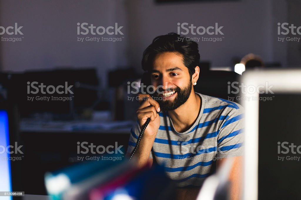 Working Overtime stock photo
