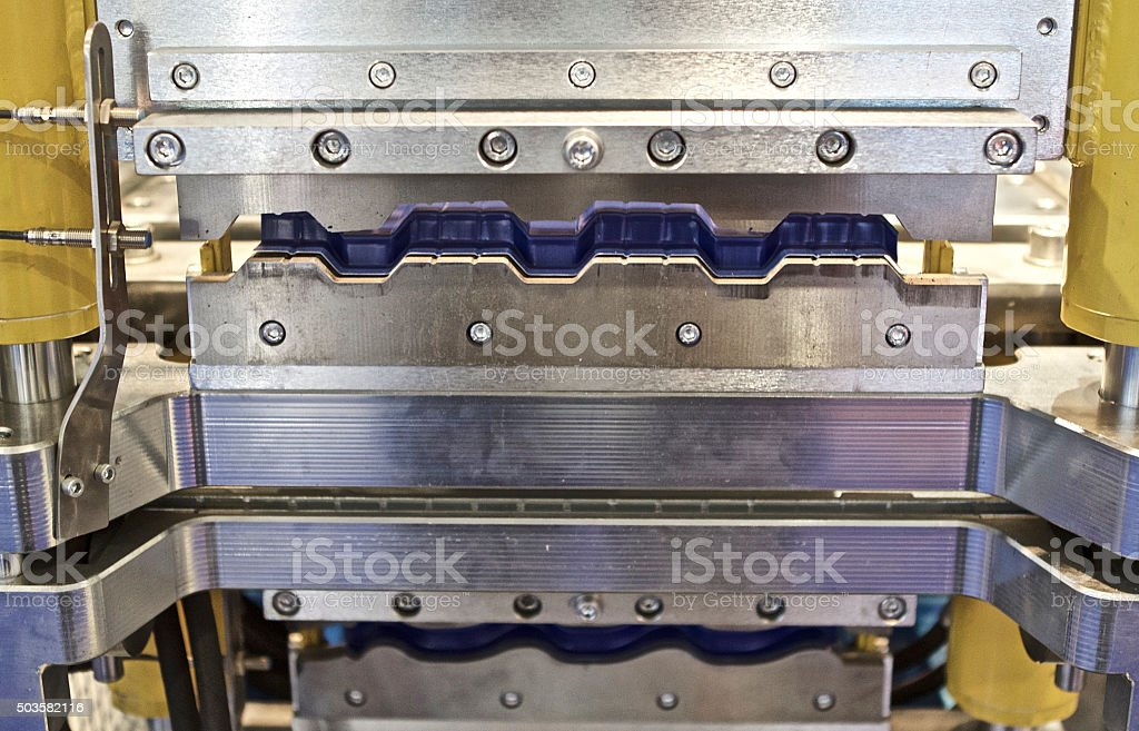 working part presses for metal forming stock photo