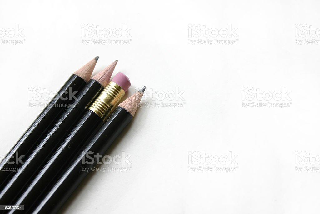 Working Pencils royalty-free stock photo