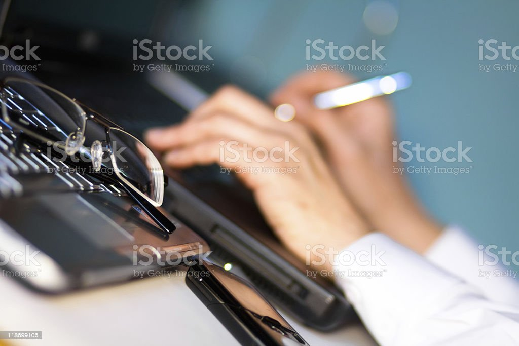 Working place royalty-free stock photo
