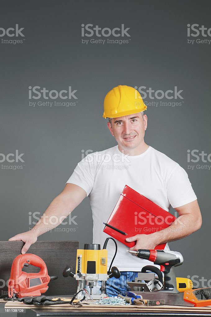 Working plans royalty-free stock photo