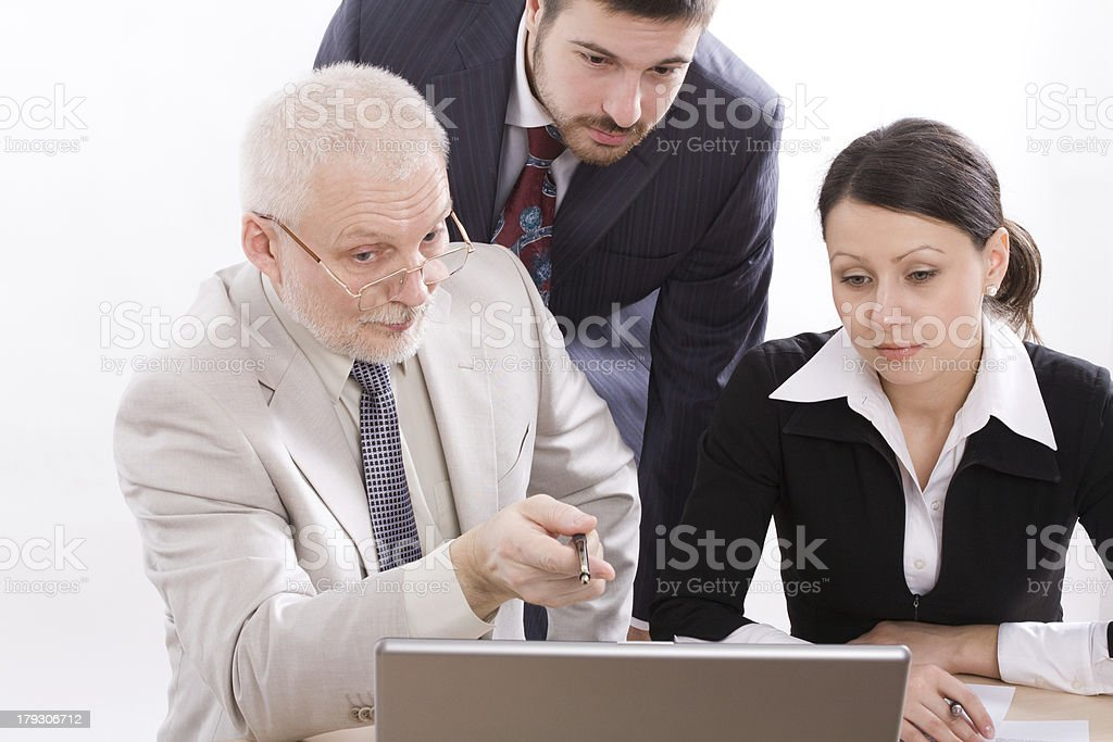 Working process royalty-free stock photo
