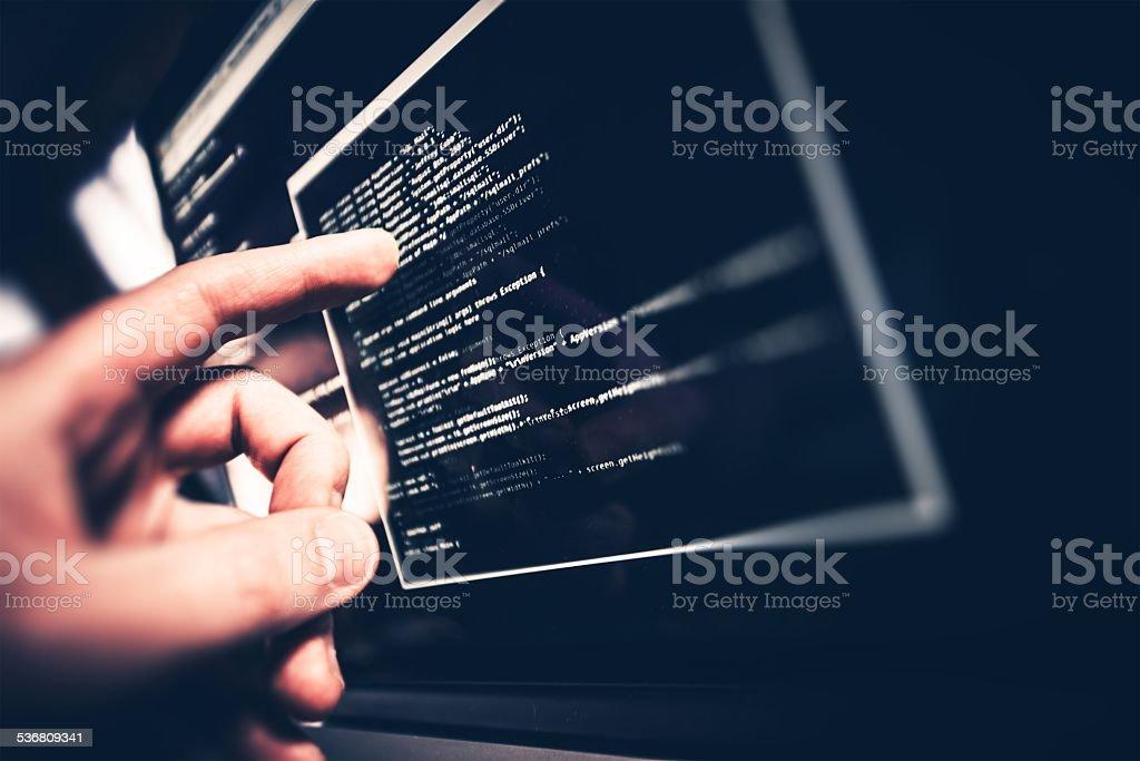 Working Programmer stock photo