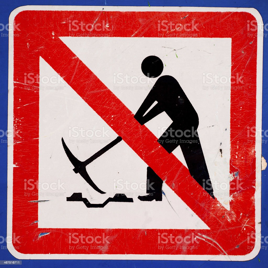 Working road sign royalty-free stock photo