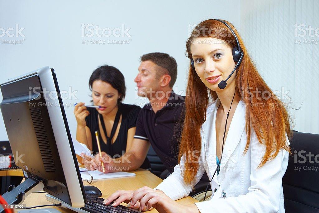 working scene royalty-free stock photo