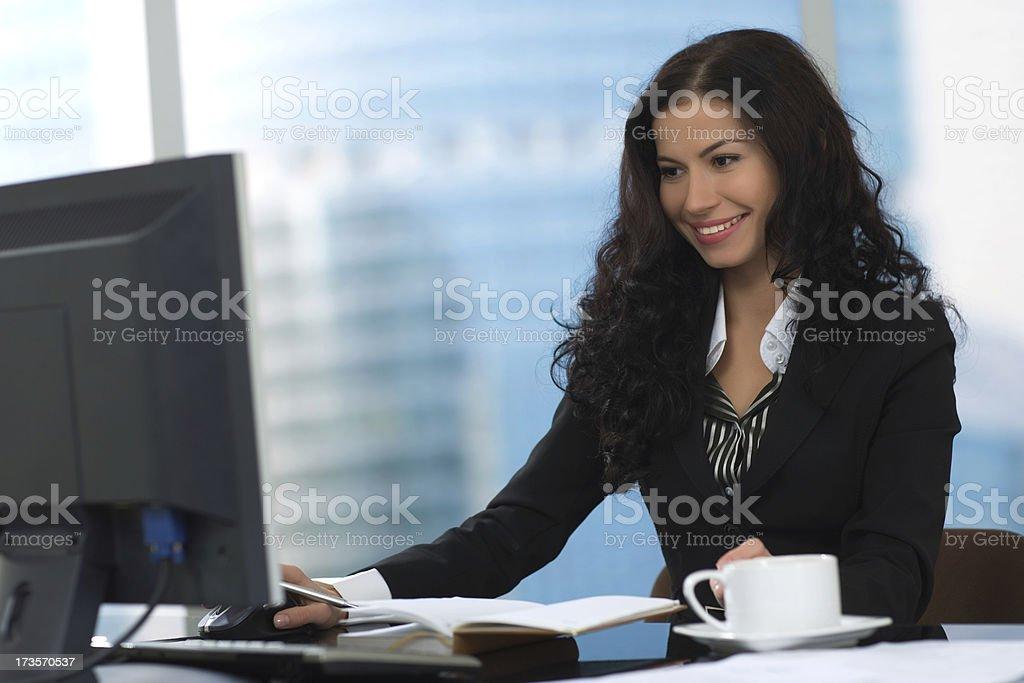 Working Secretary royalty-free stock photo