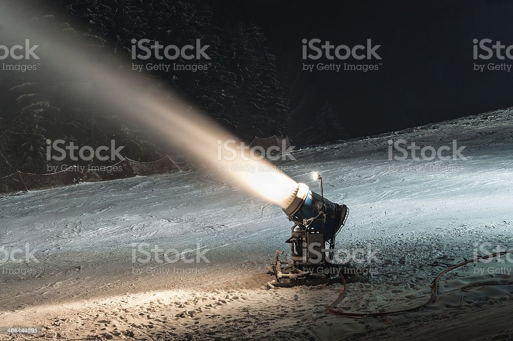 Working snow cannon royalty-free stock photo