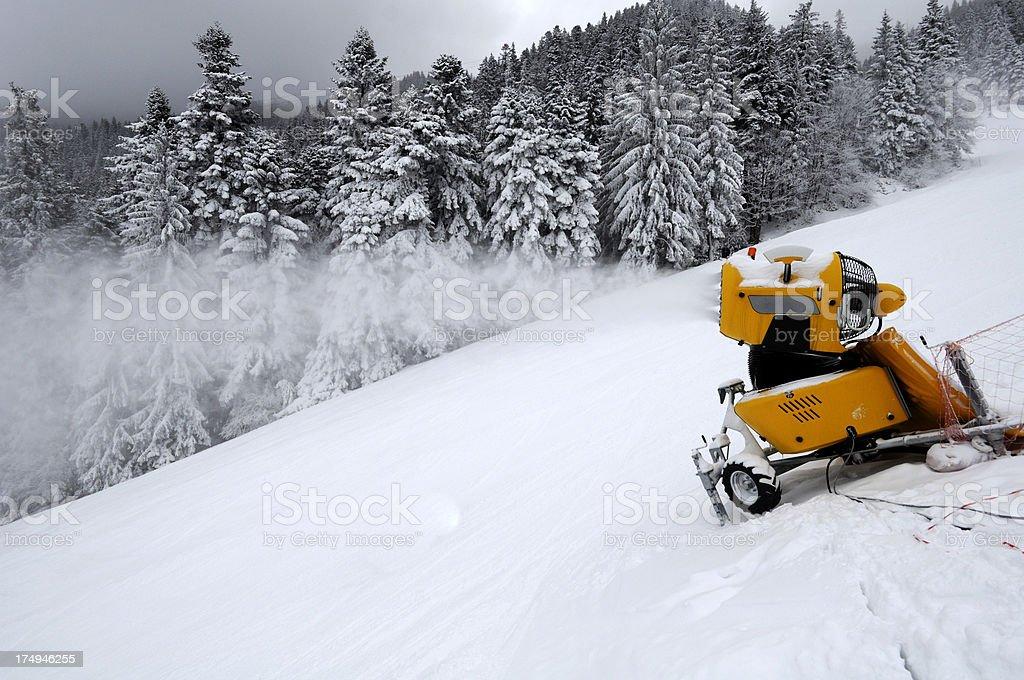 Working snowgun royalty-free stock photo