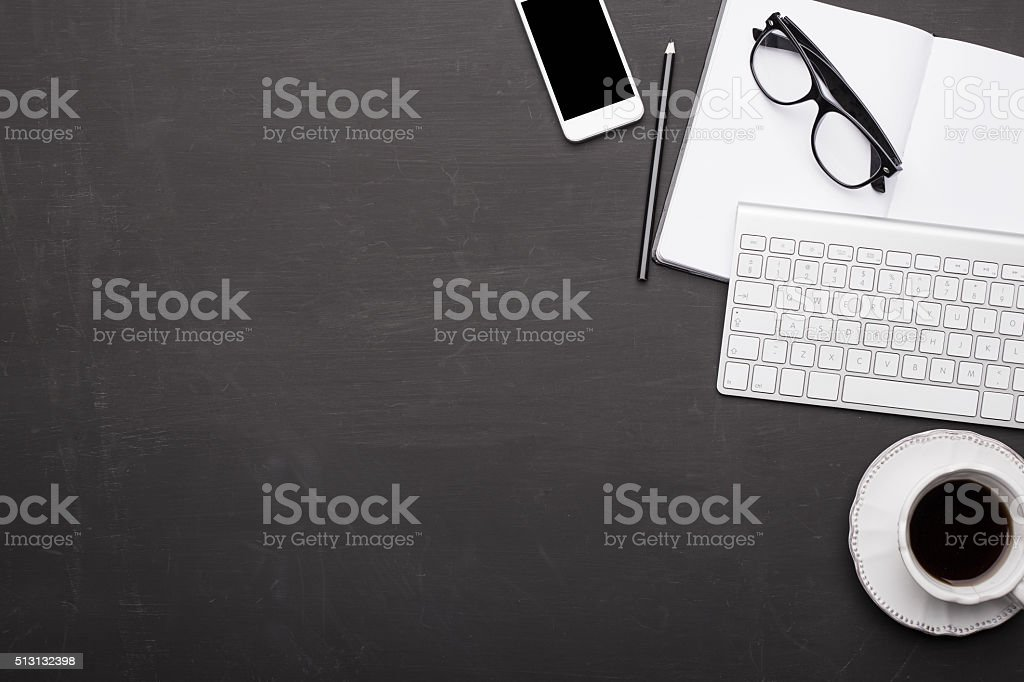 Working space background stock photo