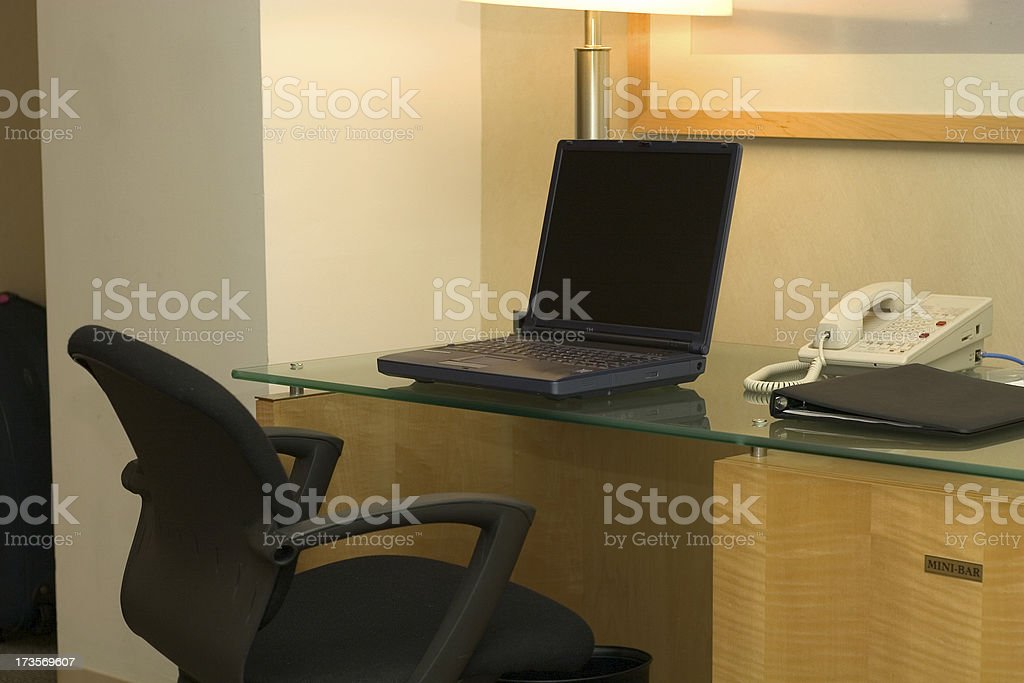 working space in hotel room royalty-free stock photo