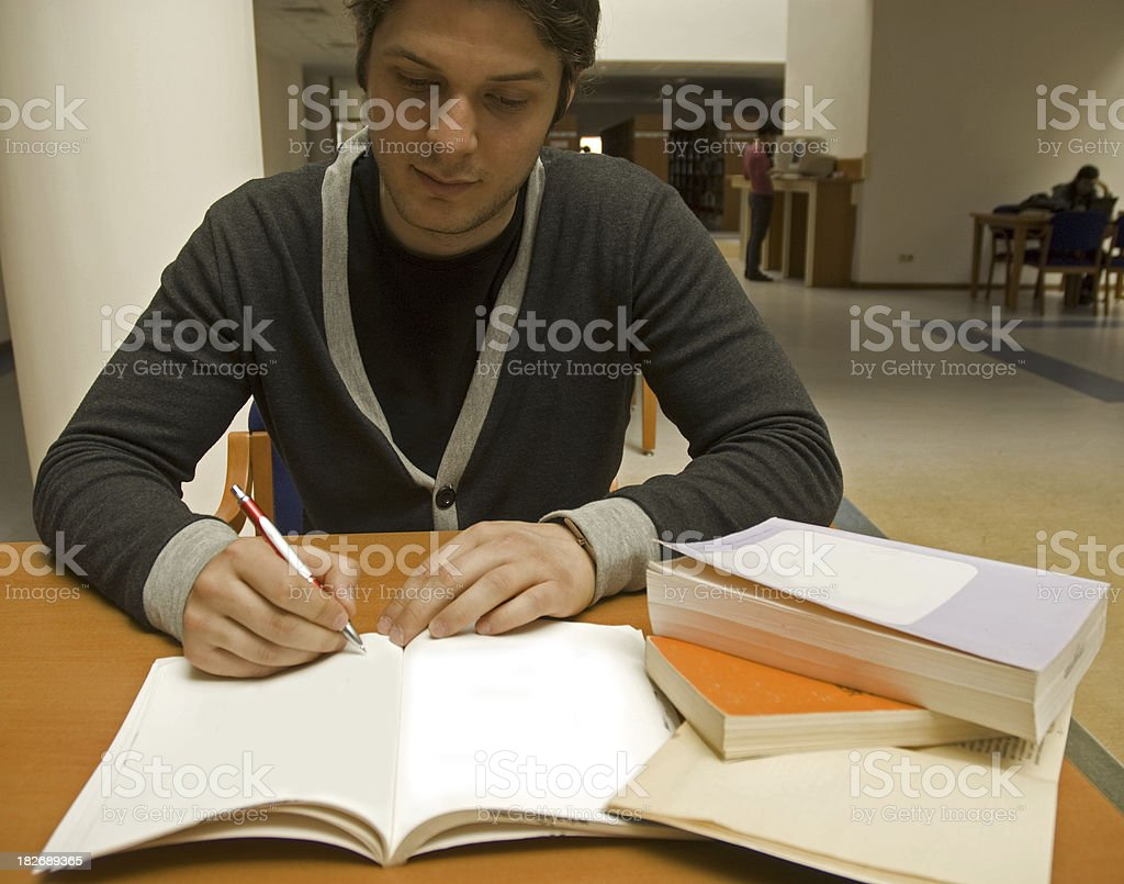 Working student royalty-free stock photo