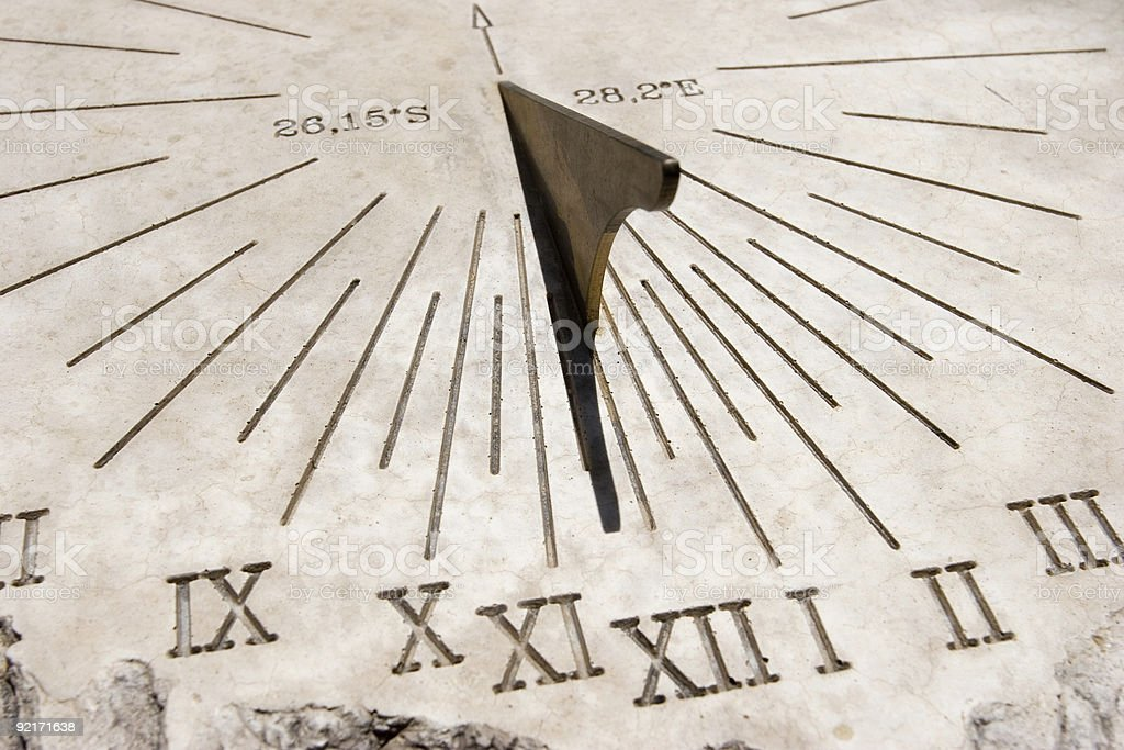 Working Sundial royalty-free stock photo