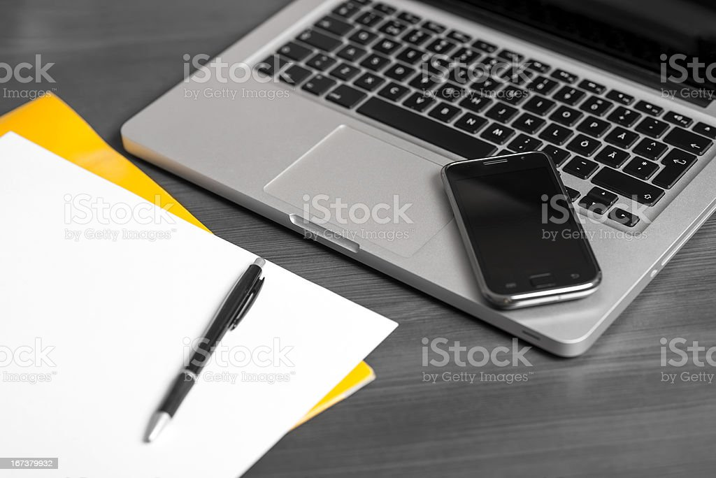 Working table royalty-free stock photo