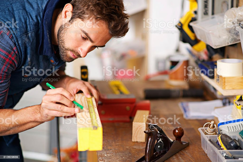Working that wood stock photo
