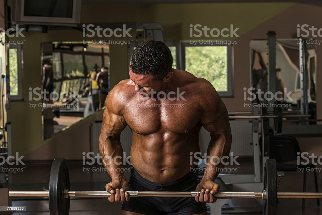 Working the Barbell royalty-free stock photo