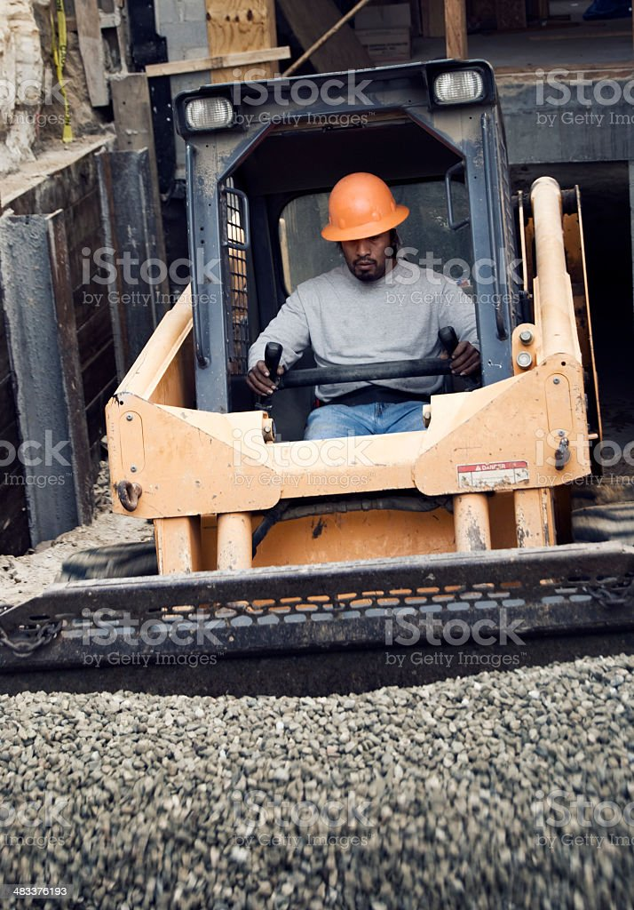 Working the Loader royalty-free stock photo