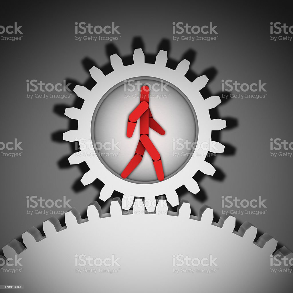 Working the Machine XL+ royalty-free stock photo