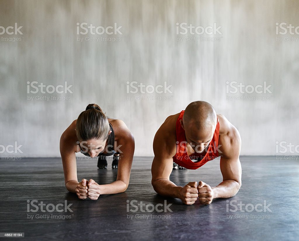 Working those core muscles to the max stock photo