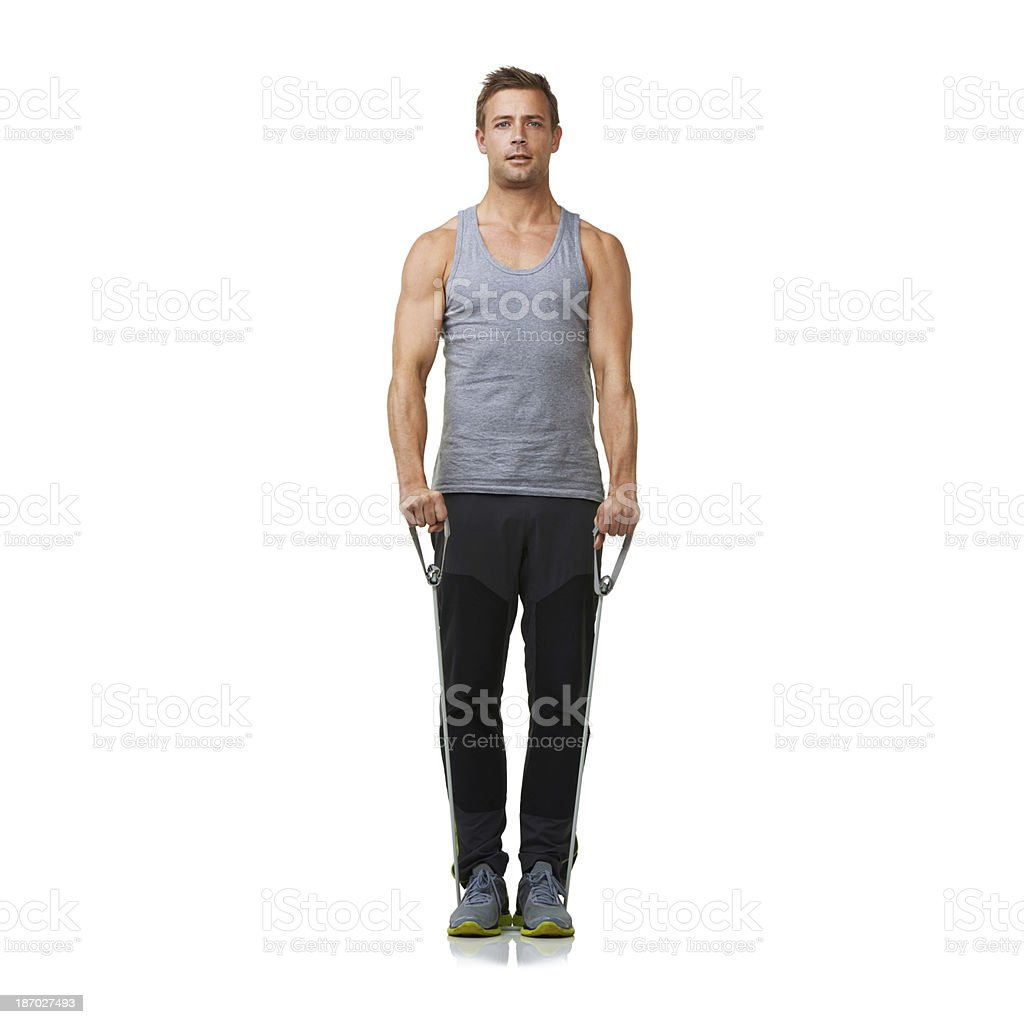 Working those muscles royalty-free stock photo