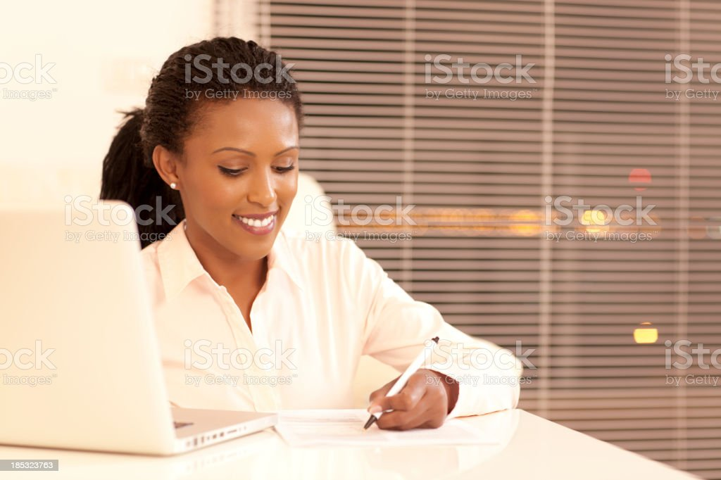 Working till late. royalty-free stock photo