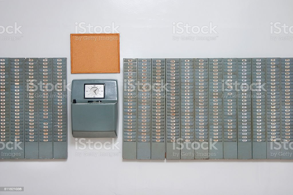 Working time control - Stock Image stock photo