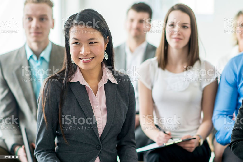 Working Together at the Office stock photo