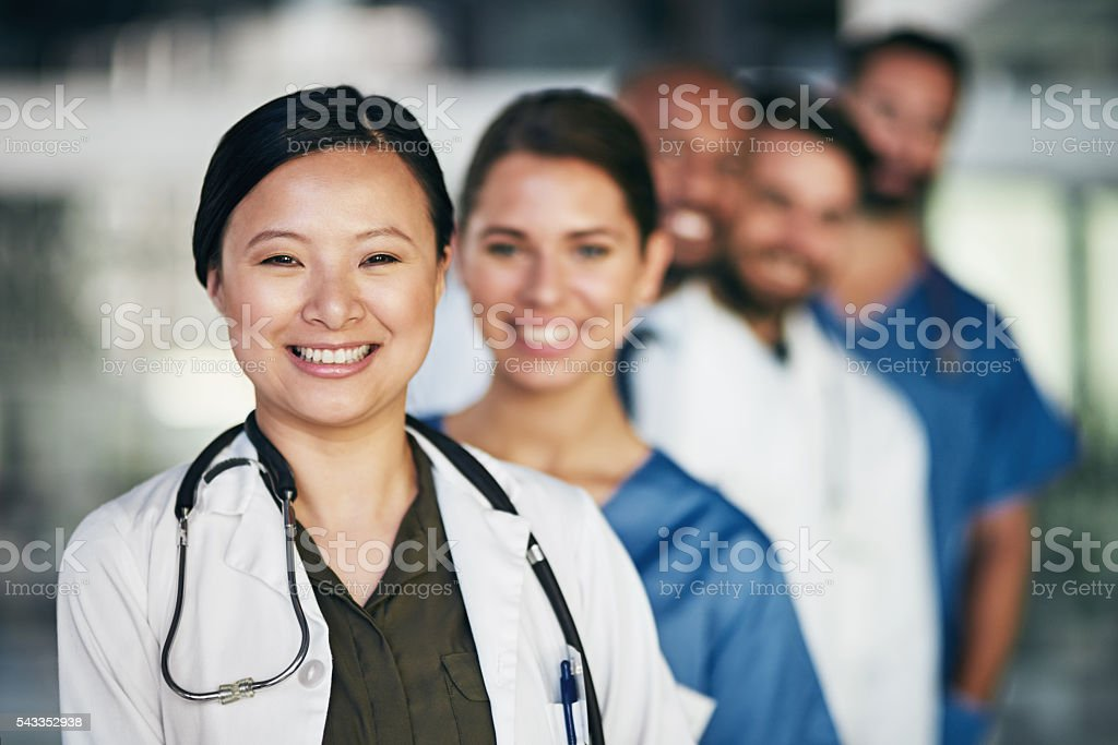 Working together for the good of your health stock photo