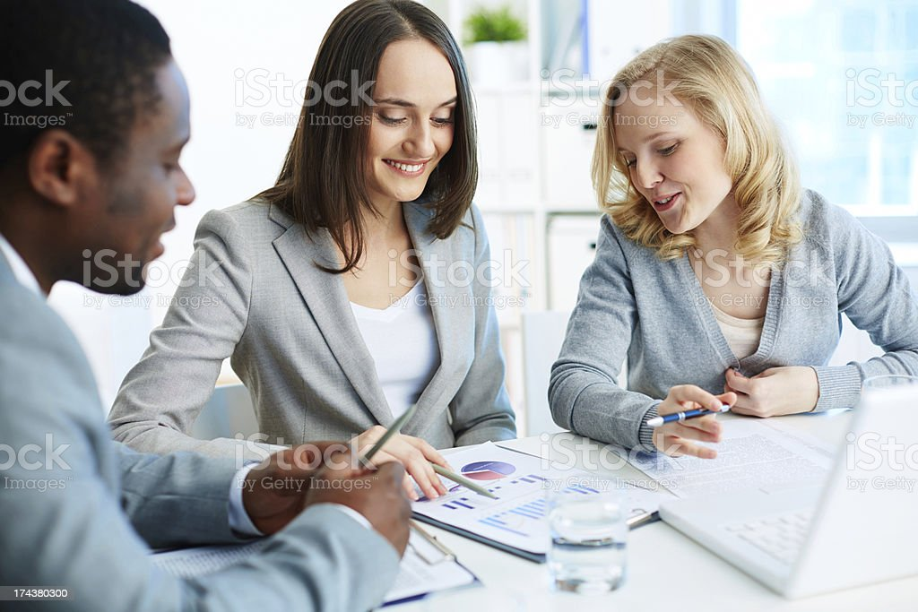 Working together royalty-free stock photo