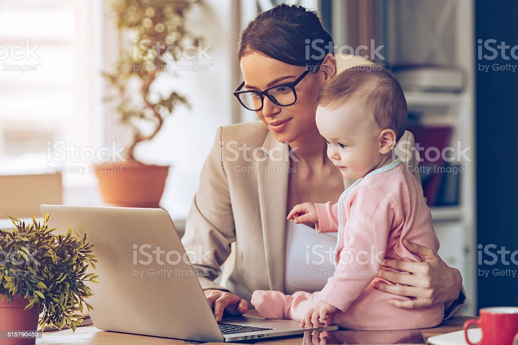 Working together. stock photo