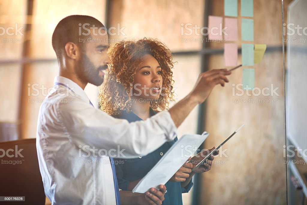 Working together to achieve success stock photo