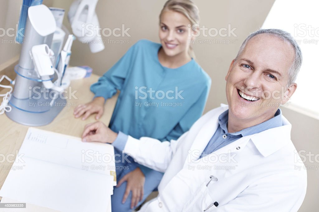 Working together to better your oral health royalty-free stock photo