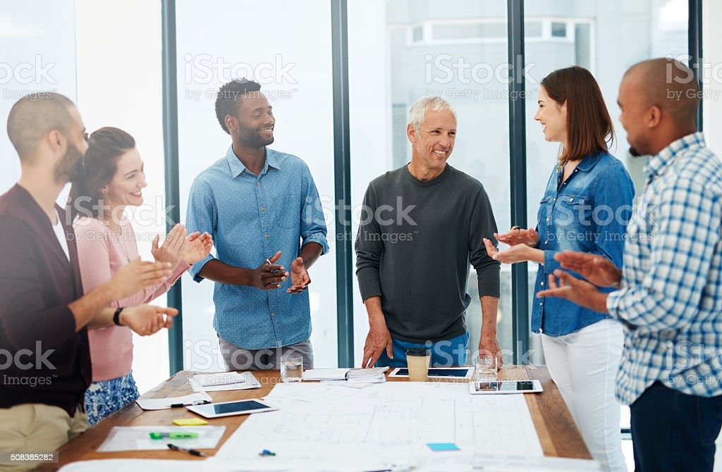 Working together to design your dreams stock photo