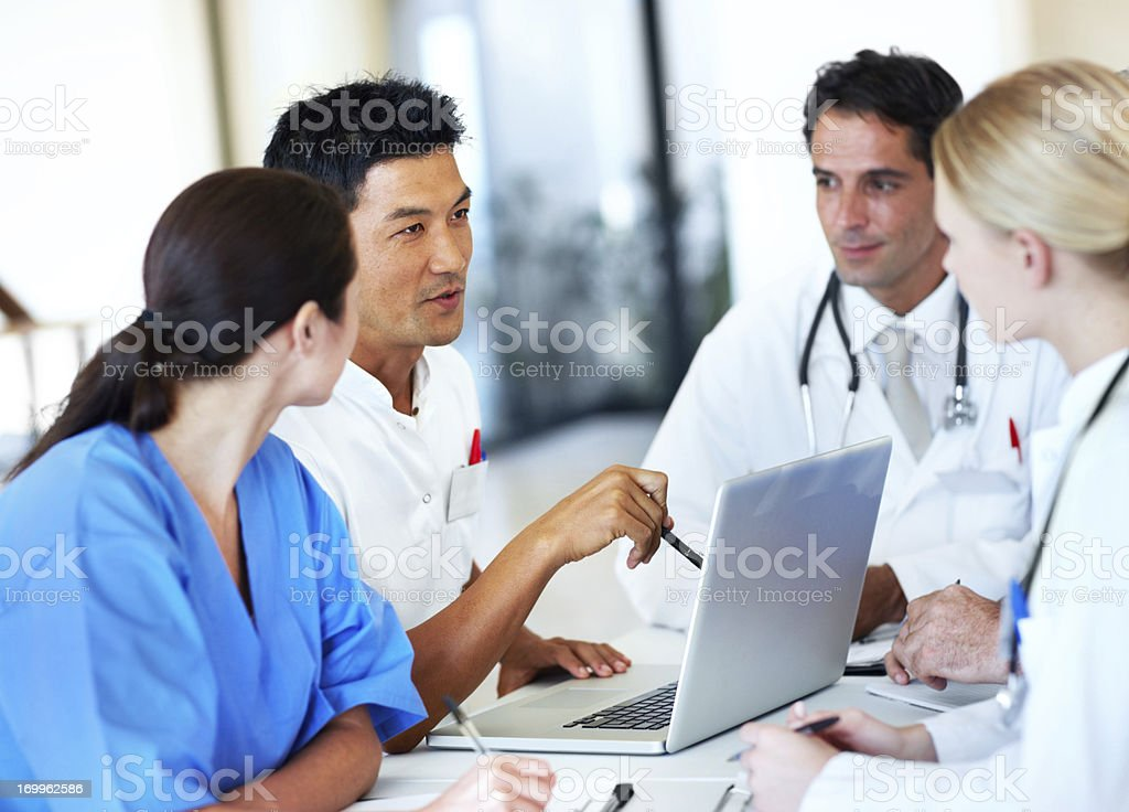 Working together to find a diagnosis royalty-free stock photo