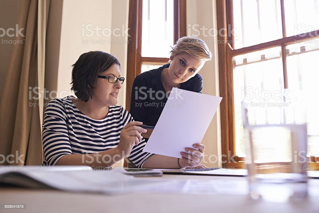 Working together to grow the business stock photo