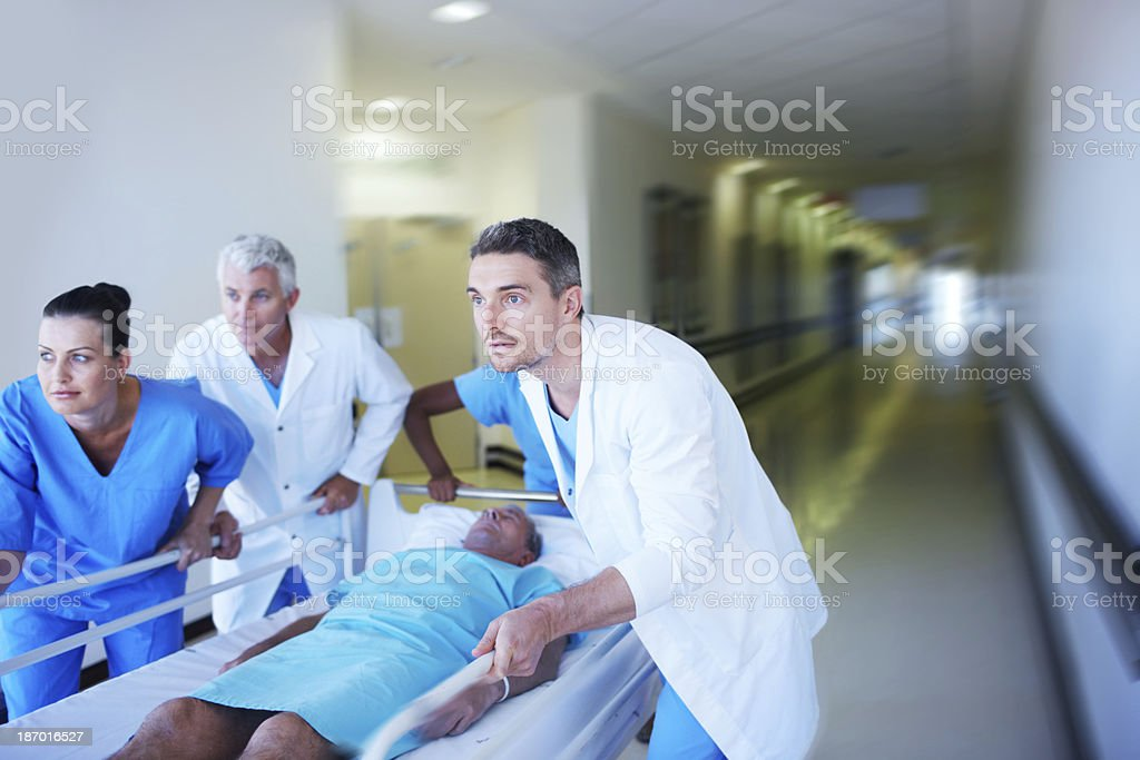 Working together to save a life royalty-free stock photo